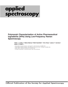 Polymorph Characterization of Active Pharmaceutical