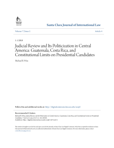 Judicial Review and Its Politicization in Central America: Guatemala