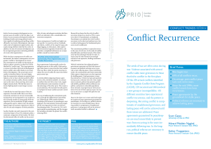 Conflict Recurrence - Peace Research Institute Oslo