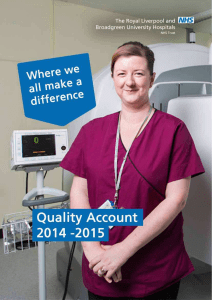 Quality Account 2014-15 - Royal Liverpool and Broadgreen