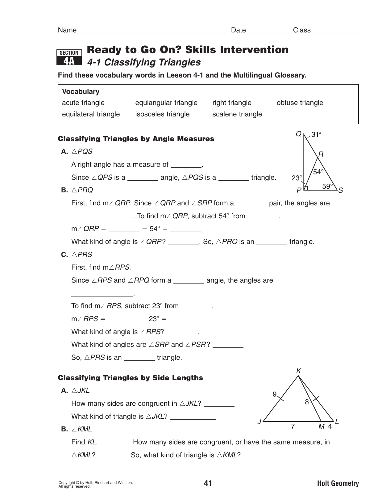 Bestseller: 9 1 Through 3 Quiz Holt Geometry Answers
