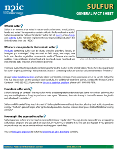 sulfur - National Pesticide Information Center