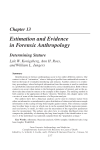 Chapter 13 Estimation and Evidence in Forensic Anthropology