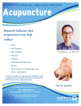 Research indicates that acupuncture may help reduce: