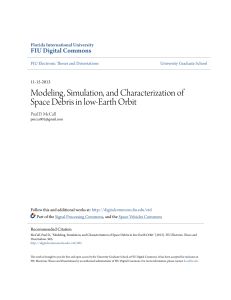 Modeling, Simulation, and Characterization of Space Debris in low