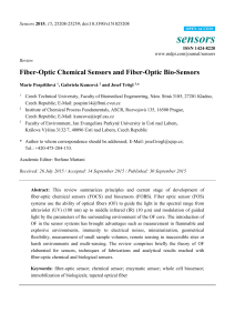 Fiber-Optic Chemical Sensors and Fiber-Optic Bio-Sensors