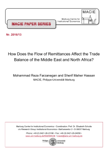 How Does the Flow of Remittances Affect the Trade