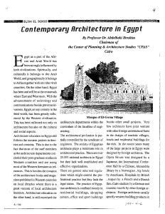 Contemporary Architecture in Egypt