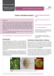 Quinoa: Nutritional Aspects - Journal of Nutraceuticals and Food