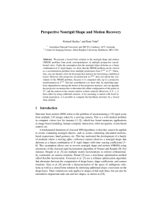 Perspective Nonrigid Shape and Motion Recovery
