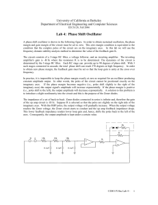Lab 4: Phase Shift Oscillator - EECS: www