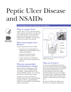 NSAIDS and Peptic Ulcers - Gastroenterology And Internal Medicine