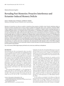 Revealing Past Memories: Proactive Interference