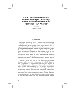 Local Lives, Transnational Ties, and the Meaning of Citizenship