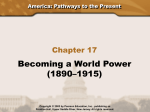 Becoming a World Power (1890–1915)