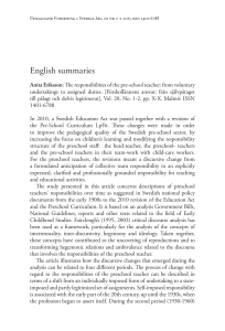 English summaries - Open Journal Systems at Lund University
