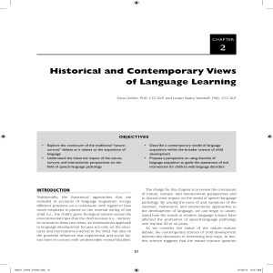 Historical and Contemporary Views of Language Learning