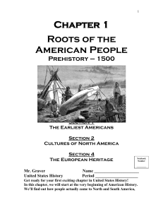 Chapter 1 Roots of the American People