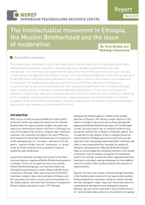 The Intellectualist Movement in Ethiopia, the Muslim Brotherhood