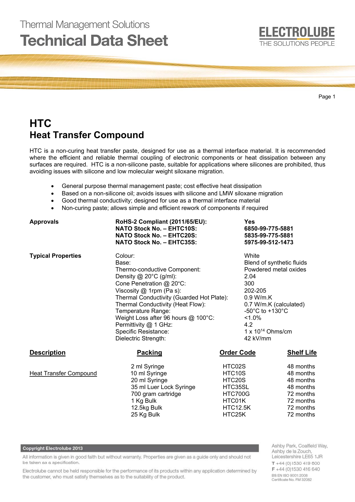 HTC Heat Transfer Compound