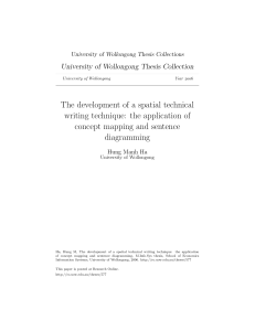The development of a spatial technical writing