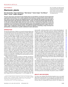 Electronic plants - Science Advances