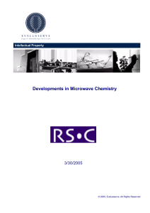EVS - RSC - Developments in Microwave Chemistry
