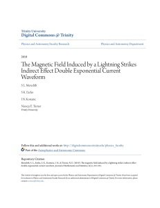 The Magnetic Field Induced by a Lightning Strikes Indirect Effect