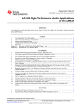 AN-346 High-Performance Audio Applications