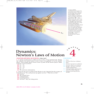 Dynamics: Newton`s Laws of Motion - Pearson-Global