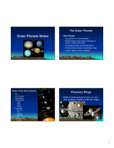 Outer Planets Notes