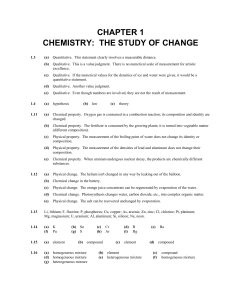 Answers Chapters 1-3 bookwork - Dunmore High School