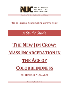 Study Guide for The New Jim Crow