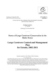 Management plan in Estonia