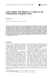 Leeds Calling: The Influence of London on the Gentrification of