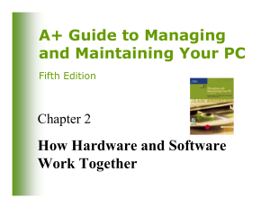 A+ Guide to Managing and Maintaining Your PC How Hardware and