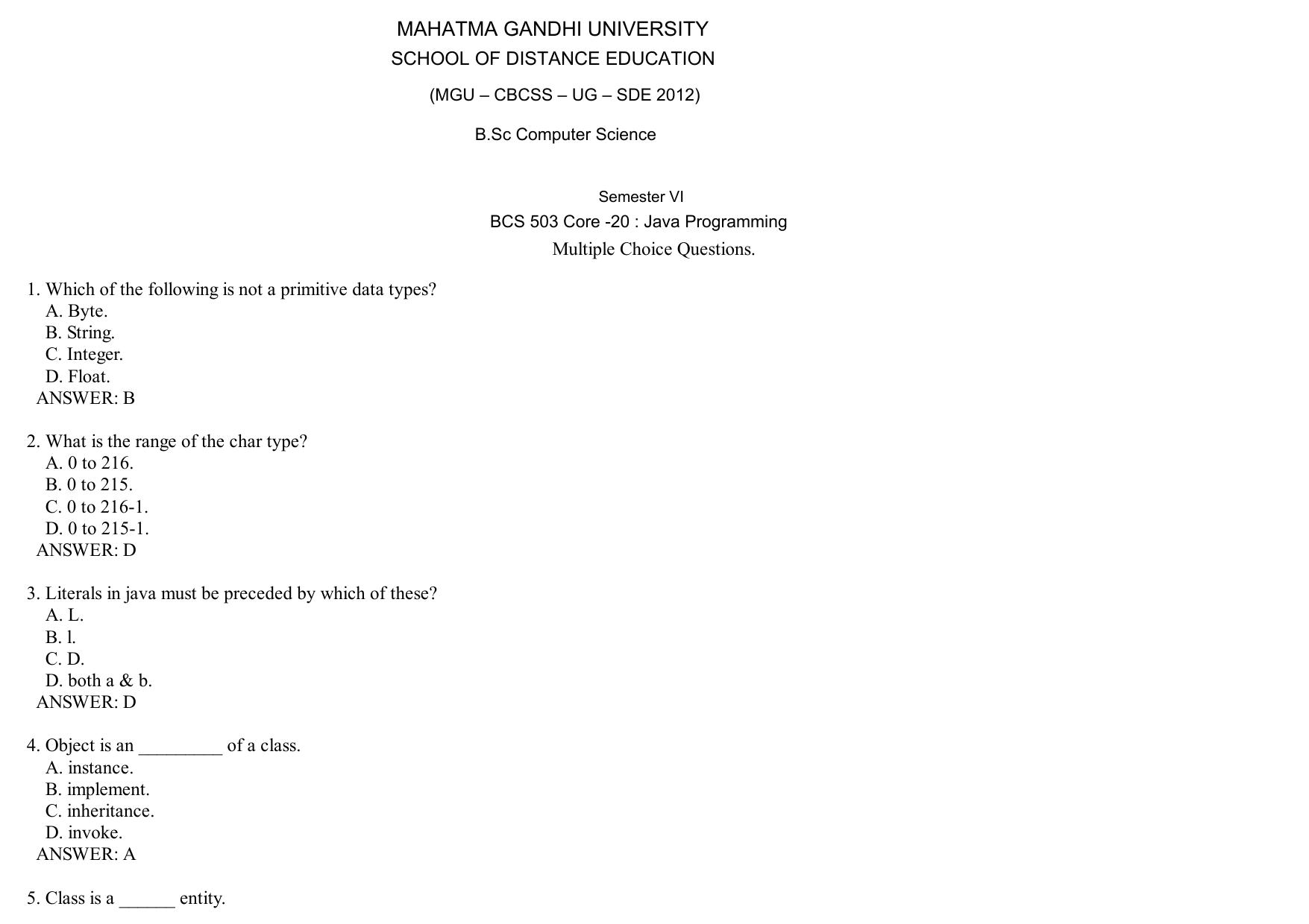 Core -20 : Java Programming
