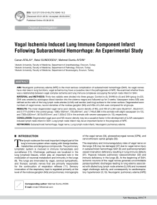 Vagal Ischemia Induced Lung Immune Component Infarct Following
