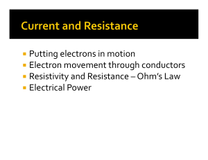 Putting electrons in motion Electron movement through conductors