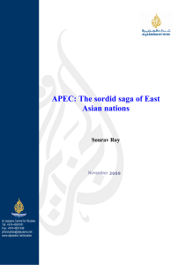 APEC: The sordid saga of East Asian nations