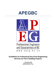 Guidelines for Professional Structural Engineering