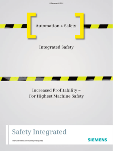 Automation + Safety: Integrated Safety, increased profitability