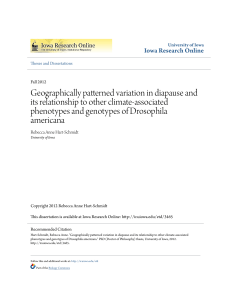 Geographically patterned variation in diapause and its relationship