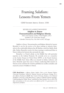 Framing Salafism: Lessons From Yemen