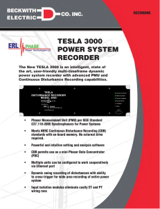 tesla 3000 power system recorder