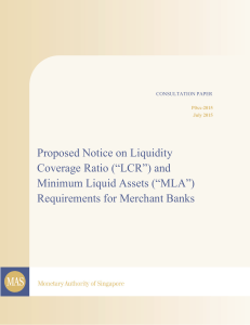"and Minimum Liquid Assets (""MLA"") Requirements for Merchant Banks"