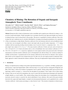 Chemistry of Riming: The Retention of Organic and Inorganic