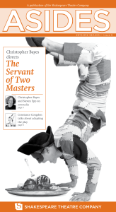 The Servant of Two Masters - Shakespeare Theatre Company
