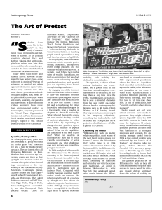 The Art of Protest - Department of Anthropology
