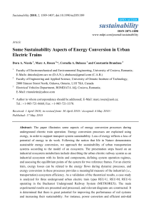 Some Sustainability Aspects of Energy Conversion in Urban Electric